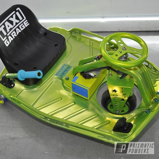 Powder Coating: Powder Coated Go Cart,Drift Cart,Taxi Garage Crazy Cart,Taxi Garage,Crazy Cart,Go Cart,Shocker Yellow PPS-4765