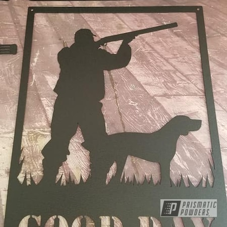 Powder Coating: Metal Art,Splatter Black PWS-4344,Garage Signs,Guns,Splatter Black,Metal Signs