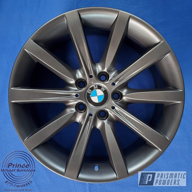 Powder Coating: Wheels,Alloy Wheels,Graphite Charcoal PMB-5458,BMW,Aluminum