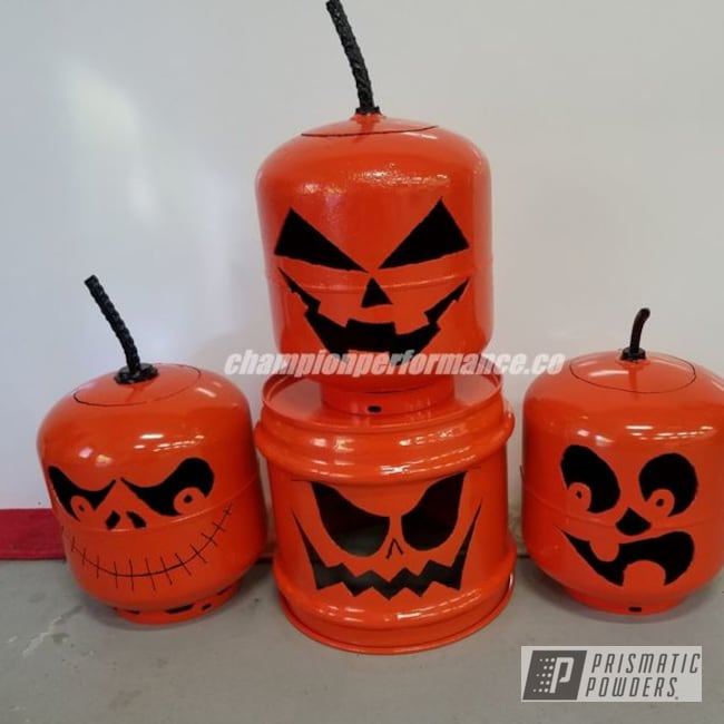 Powder Coating: Fuel Tank,Powder Coated Miscellaneous Items,International Orange PSS-2779,Pumpkins,Miscellaneous
