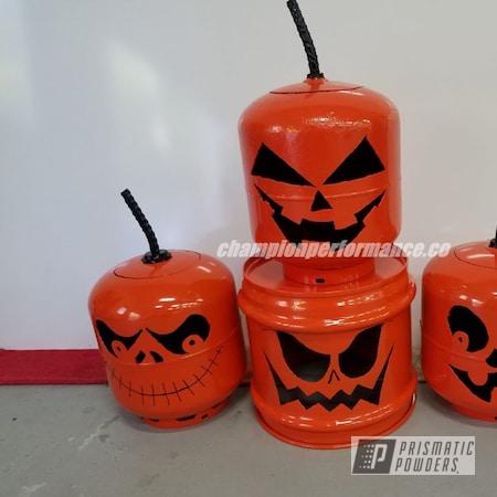 Powder Coating: Fuel Tank,Powder Coated Miscellaneous Items,International Orange PSS-2779,Pumpkins,Miscellaneous