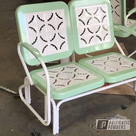 Powder Coating: RAL 9003 Signal White,Patio Chairs,Chairs,Patio Furniture,Two Tone,Patio Chair,Lawn Chairs,Patio Bench,Furniture,RAL 6021 Pale Green