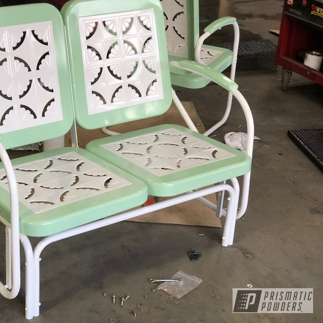 Powder Coating: RAL 9003 Signal White,Patio Chairs,Chairs,Patio Furniture,Patio Chair,Lawn Chairs,Two Tone,Patio Bench,Furniture,RAL 6021 Pale Green
