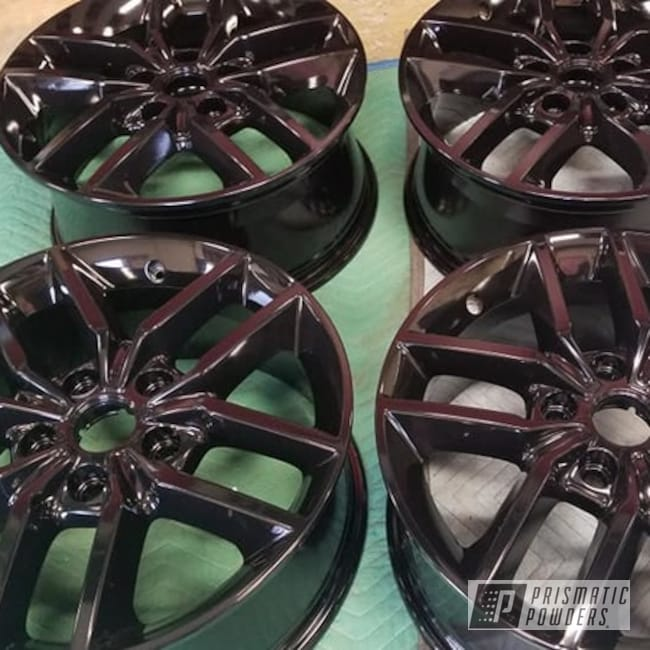 "Powder Coating: Wheels,Rims,GLOSS BLACK USS-2603,18"" Aluminum Rims,Automotive Rims,Automotive Wheels,Aluminum Wheels"