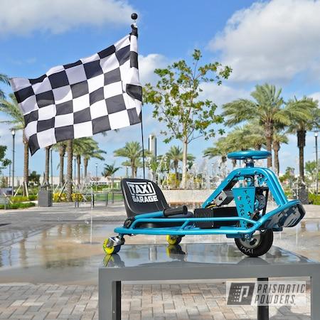 Powder Coating: Drift Cart,Taxi Garage,GLOKZIN TEAL PMB-5685,Crazy Cart,Go Cart