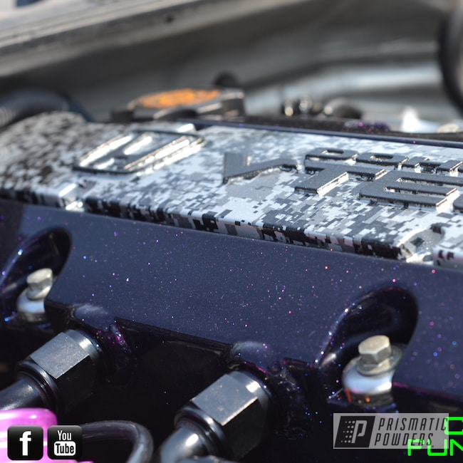 Powder Coating: Automotive,Chameleon Violet PPB-5731,Ink Black PSS-0106,Silver custom hydro graphics