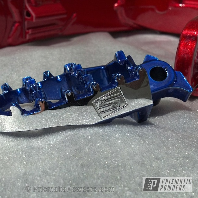 Powder Coating: Bicycles,Alien Silver PMS-2569,BLUE RASPBERRY UPB-2501,WILDER RED UPB-4842