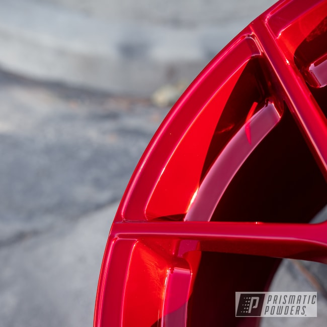 Powder Coating: Wheels,Automotive,LOLLYPOP RED UPS-1506,powder coating,powder coated,Miscellaneous,Aluminum Wheels