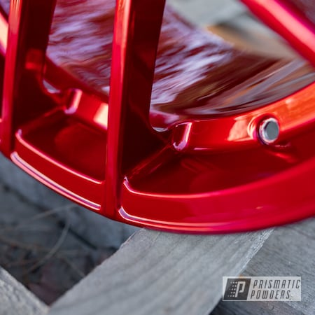 Powder Coating: Wheels,Automotive,LOLLYPOP RED UPS-1506,powder coating,powder coated,Miscellaneous,Aluminum Wheels