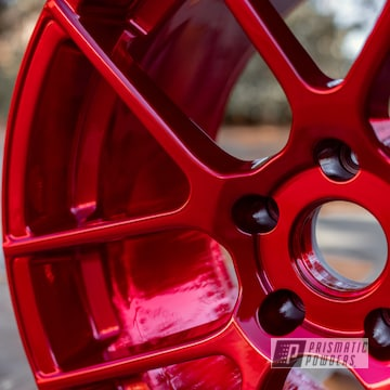 Powder Coated Custom Wheels In Ups-1506