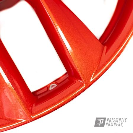 Powder Coating: Wheels,Alloy Wheels,Clear Vision PPS-2974,Custom Wheels,powder coating,Illusion Red PMS-4515,powder coated,Prismatic Powders,Miscellaneous