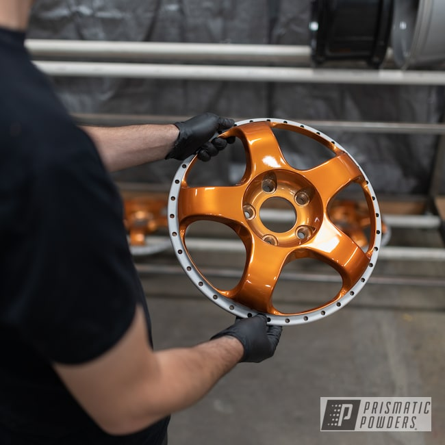 Powder Coating: Wheels,Automotive,Alloy Wheels,Custom Wheels,powder coating,powder coated,Prismatic Powders,Trans Copper II PPS-2618,Miscellaneous