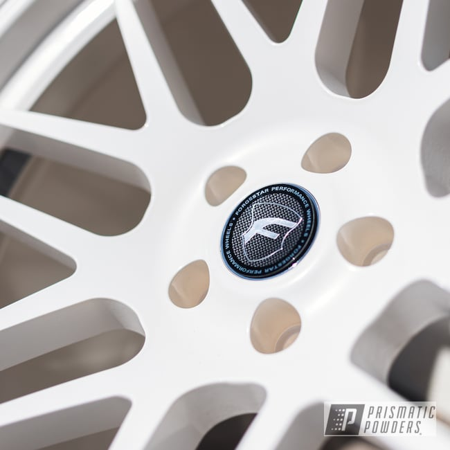 Powder Coating: Wheels,Custom Wheels,Pearl White PMB-4364,powder coating,powder coated,Prismatic Powders,Forgestar,F14,Miscellaneous,Aluminum Wheels