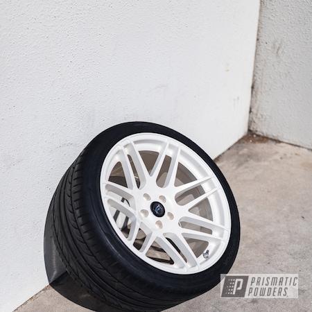 Powder Coating: Wheels,Custom Wheels,Pearl White PMB-4364,powder coating,powder coated,Prismatic Powders,Forgestar,F14,Miscellaneous,Aluminum Wheels