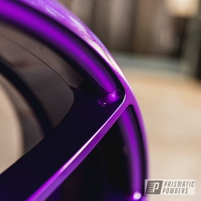 Powder Coating: Illusion Purple PSB-4629,Wheels,Automotive,Alloy Wheels,Clear Vision PPS-2974,Custom Wheels,Niche,Niche Wheels,powder coating,powder coated,Prismatic Powders