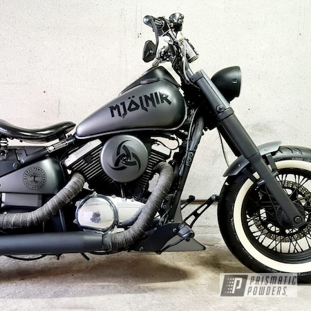 Powder Coating: Kawasaki,Chopper,Two Stage Application,VN800,Speedway Grey PMB-4911,Motorcycles,Casper Clear PPS-4005