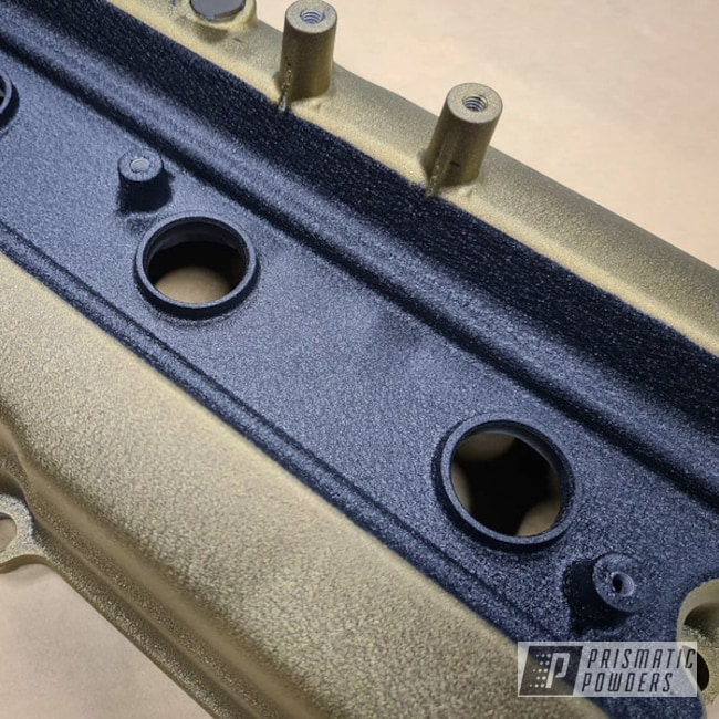 Powder Coating: Automotive,powder coating,Splatter Brass PWB-6638,Valve Cover
