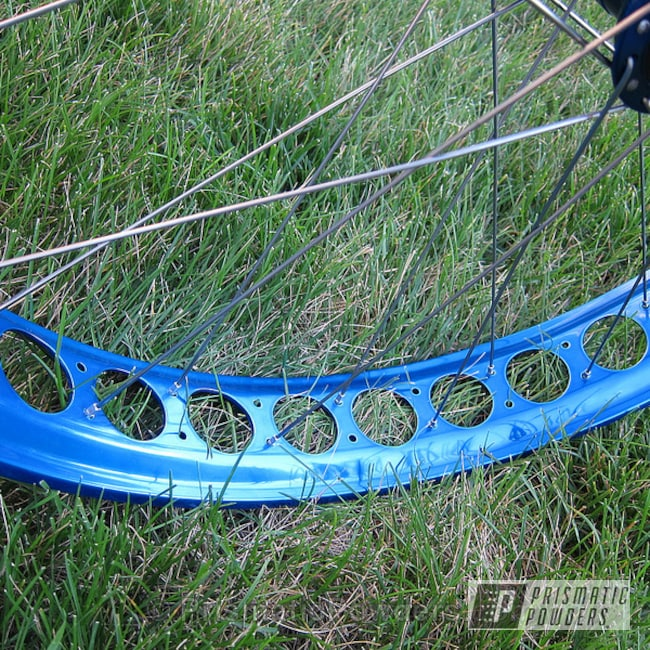 Powder Coating: Wheels,Custom,Bicycles,Blue,powder coating,powder coated,Prismatic Powders,ROYALTON BLUE UPB-2082,Fat Bike wheelset