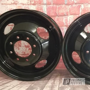 Powder Coated Dually Wheels In Pss-0106