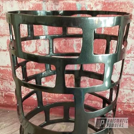 Powder Coating: End Table,Custom Furniture,Table,Custom Table,Cadillac Grey PMB-6377