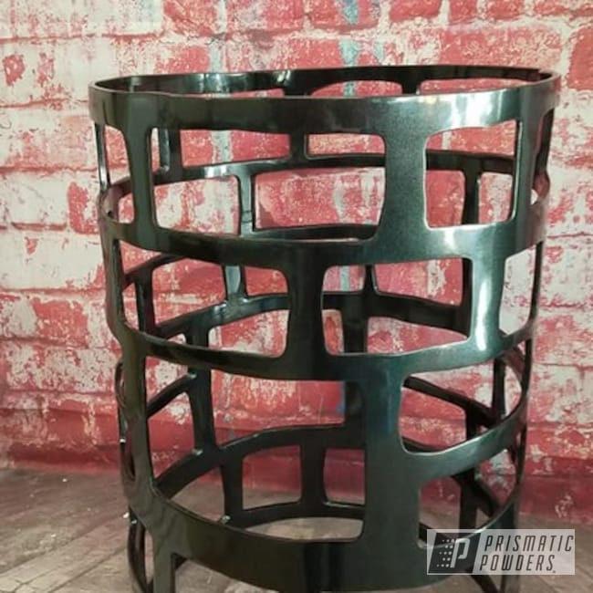 Powder Coating: End Table,Custom Furniture,Table,Custom Table,Cadillac Grey PMB-6377