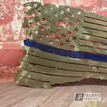 Powder Coated Metal Flag Art In Ppb-6815 And Pps-2974