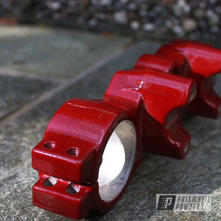Powder Coating: Motorcycle Parts,Accessories,SUPER CHROME II PSS-10300,Lower Tripleclamp,Rancher Red PPB-6415