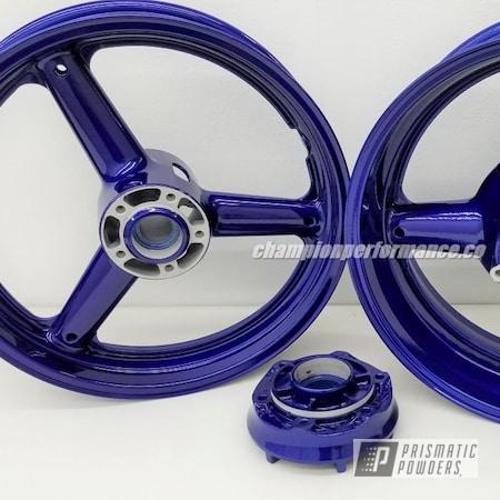 Powder Coating: Clear Vision PPS-2974,Motorcycle Wheels,Suzuki,Motorcycles,Illusion Royal PMS-6925,TL 1000