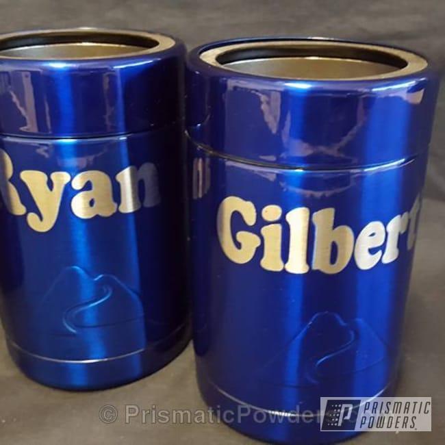 Powder Coating: Single Powder Application,Cheater Blue PPB-6815,Custom Koozies,Dallas Cowboys Theme,Solid Tone,Custom Bottle Keepers,NFL Football,Miscellaneous