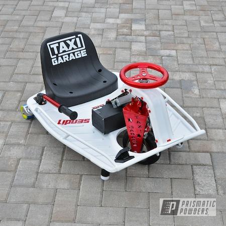 Powder Coating: Drift Cart,LOLLYPOP RED UPS-1506,Taxi Garage,Snow Buster PSB-8038,Crazy Cart,Go Cart