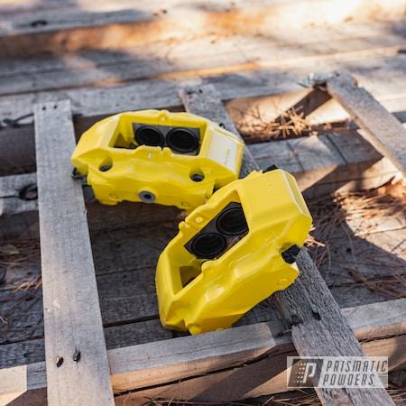 Powder Coating: Automotive,Brembo,Brake Calipers,Porsche,powder coating,powder coated,Prismatic Powders,Brembo Brake Calipers,Electric Yellow PSS-2834,Miscellaneous,911