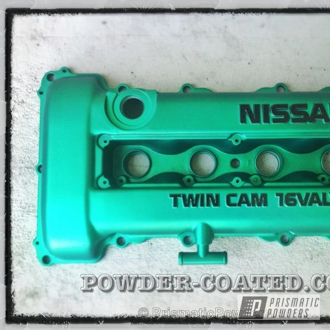 Powder Coating: Automotive,Anodized Green PPB-6386,ANODIZED GREEN SR20DET VALVE COVER,Valve Cover