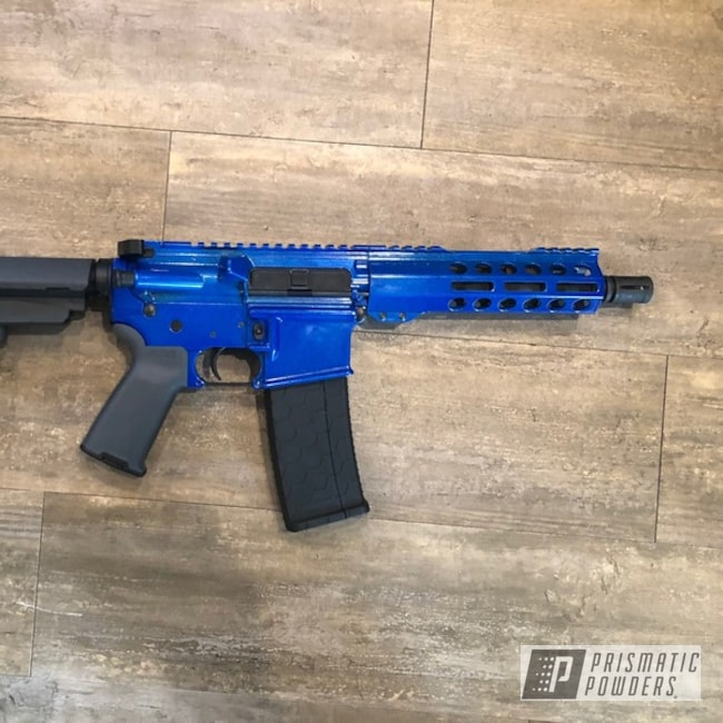 Powder Coating: Clear Vision PPS-2974,AR15,Illusion Blueberry PMB-6908