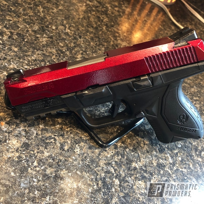 Powder Coating: Clear Vision PPS-2974,pistol,Illusion Cherry PMB-6905