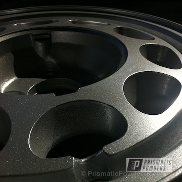 Wheels Coated In Class A Silver Powder Coat