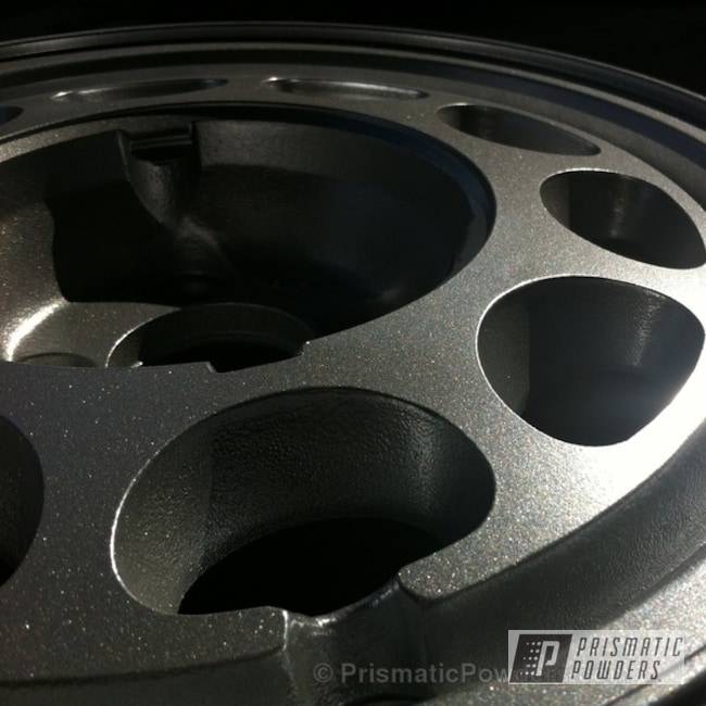 Powder Coating: Wheels,Custom,Silver,Automotive,powder coating,Mustang Wheel,powder coated,Prismatic Powders,Class A Silver PMB-4202
