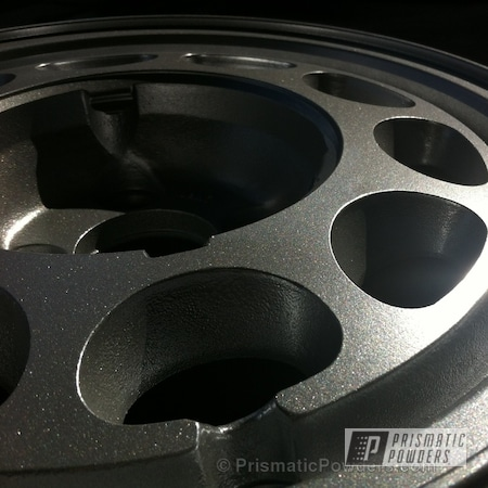 Powder Coating: Wheels,Custom,Silver,Automotive,powder coating,Mustang Wheel,powder coated,Prismatic Powders,Class A Silver PMB-4202