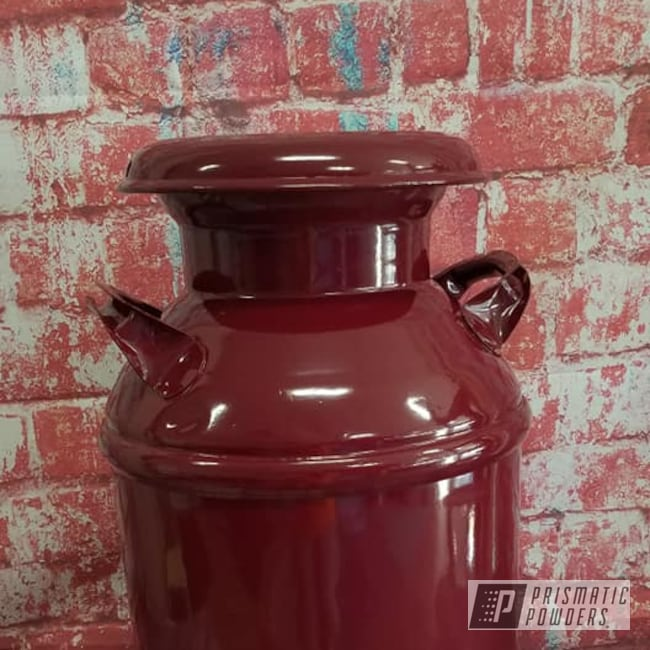 Powder Coating: Vintage Cream Can,RAL 3005 Wine Red,Milk Can,Vintage,Miscellaneous