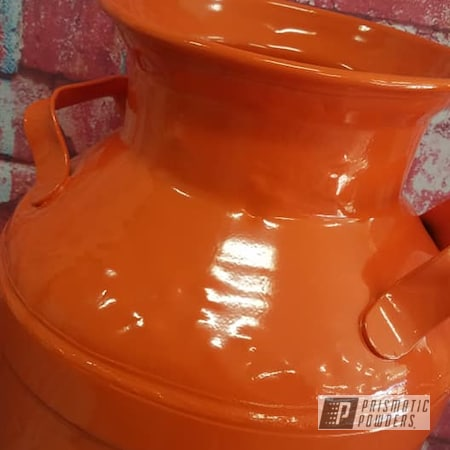 Powder Coating: Cream Can,Vintage Cream Can,Milk Can,Creamer Can,Vintage,RAL 2004 Pure Orange,Miscellaneous