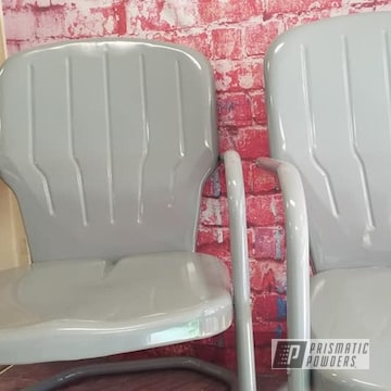 Powder Coated Patio Chairs In Ral-7046