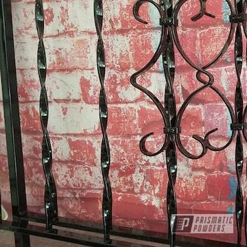 Powder Coated Iron Railing In Uss-2603