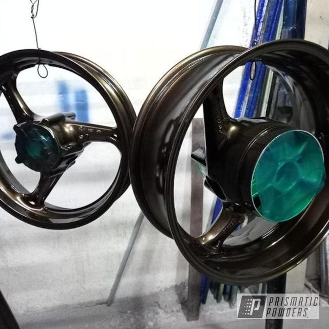Powder Coating: Wheels,Motorcycle Rims,Rims,Bronze Chrome PMB-4124,Sport Rims
