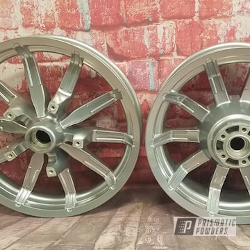 Powder Coated Harley Davidson Wheels In Pps-2974 And Pss-10300