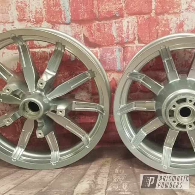 Powder Coating: Harley Davidson Parts,Harley Davidson,Clear Vision PPS-2974,SUPER CHROME II PSS-10300,Harley Rims,Aluminum Wheels