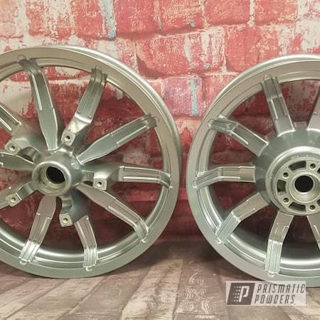 Powder Coating: Harley Davidson Parts,Harley Davidson,Clear Vision PPS-2974,SUPER CHROME II PSS-10300,Harley Rims,Aluminum Wheels