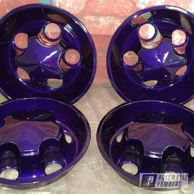 Powder Coating: Illusion Purple PSB-4629,Clear Vision PPS-2974,Steel Center Caps,Wheel Caps,Illusions,Center Caps
