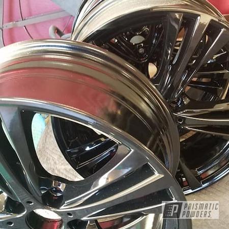 "Powder Coating: Wheels,Alloy Wheels,20"" Wheels,Ink Black PSS-0106,Aluminum Rims,Aluminum Wheels"