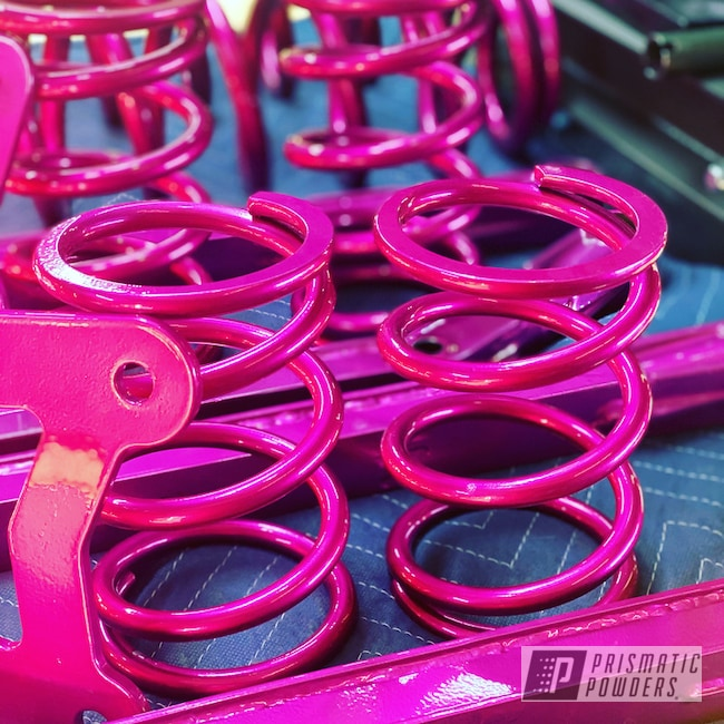Powder Coating: Clear Vision PPS-2974,Shocks,Trailing Arms,Illusion Pink PMB-10046,Polaris,Arms