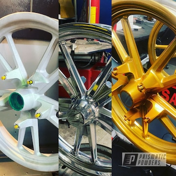 Powder Coated Harley Davidson Rims In Ppb-4698 And Pss-10300