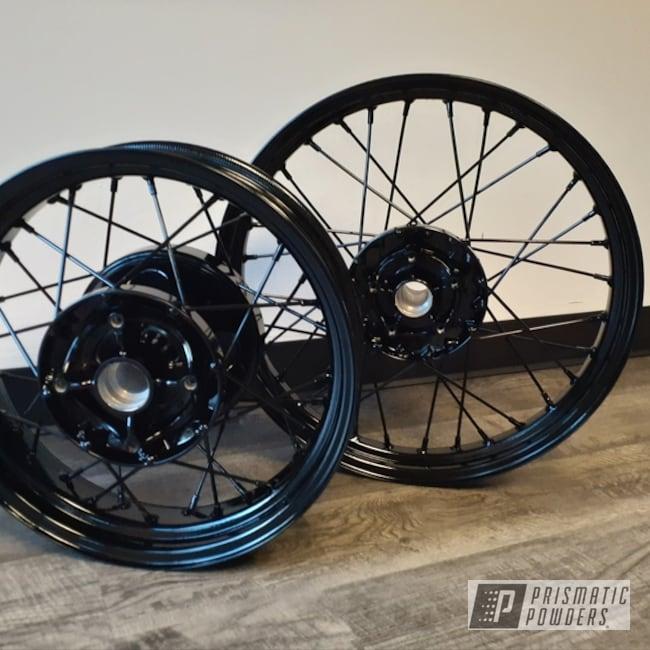 Powder Coating: Wheels,GLOSS BLACK USS-2603,Motorcycle Wheels